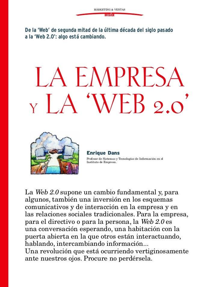 MÁRKETING & VENTAS                                        DOSSIERDe la 'Web' de segunda mitad de la última década del sigl...