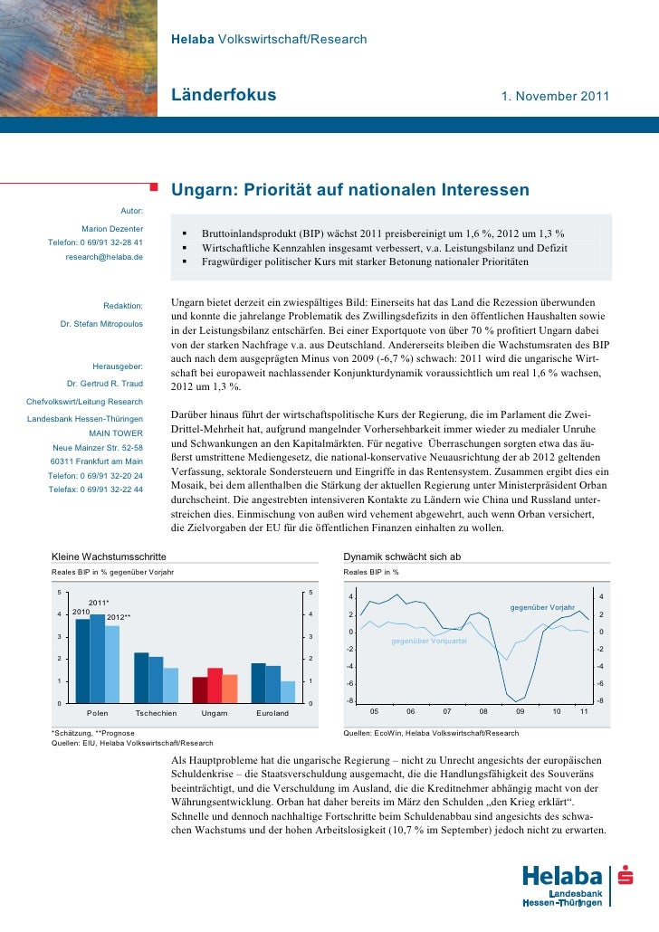 Helaba Volkswirtschaft/Research                                       Länderfokus                                         ...