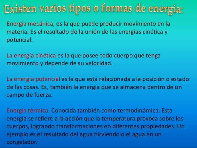 La energ a for Definicion de cuarto