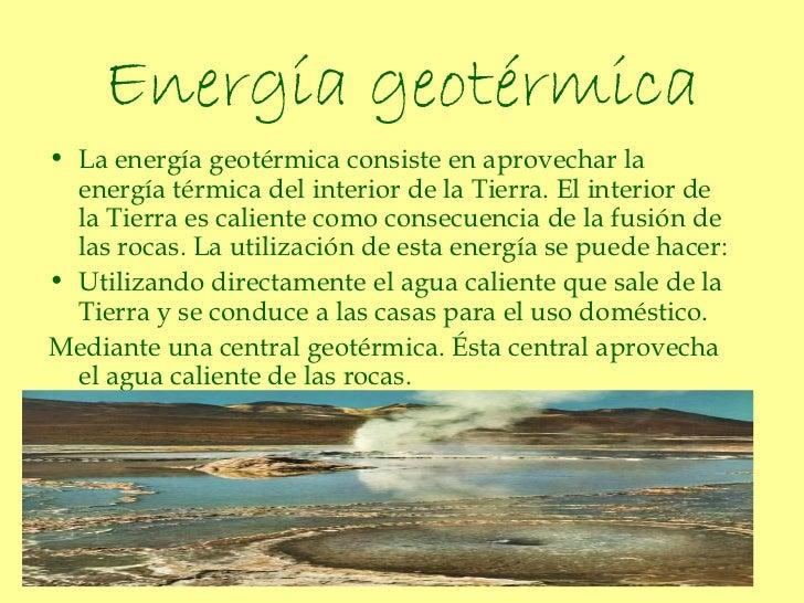 La energ a - En que consiste la energia geotermica ...