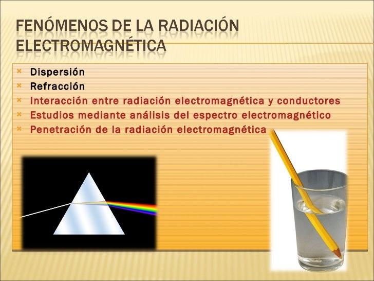 <ul><li>Dispersión </li></ul><ul><li>Refracción </li></ul><ul><li>Interacción entre radiación electromagnética y conductor...