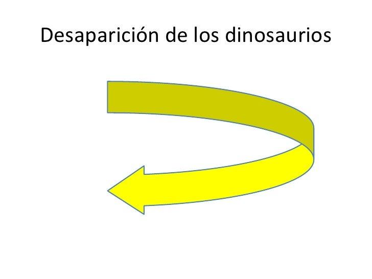 Desaparición de los dinosaurios           • l