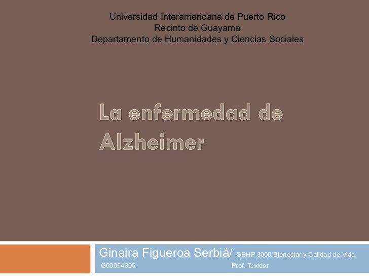 Universidad Interamericana de Puerto Rico             Recinto de GuayamaDepartamento de Humanidades y Ciencias Sociales Gi...
