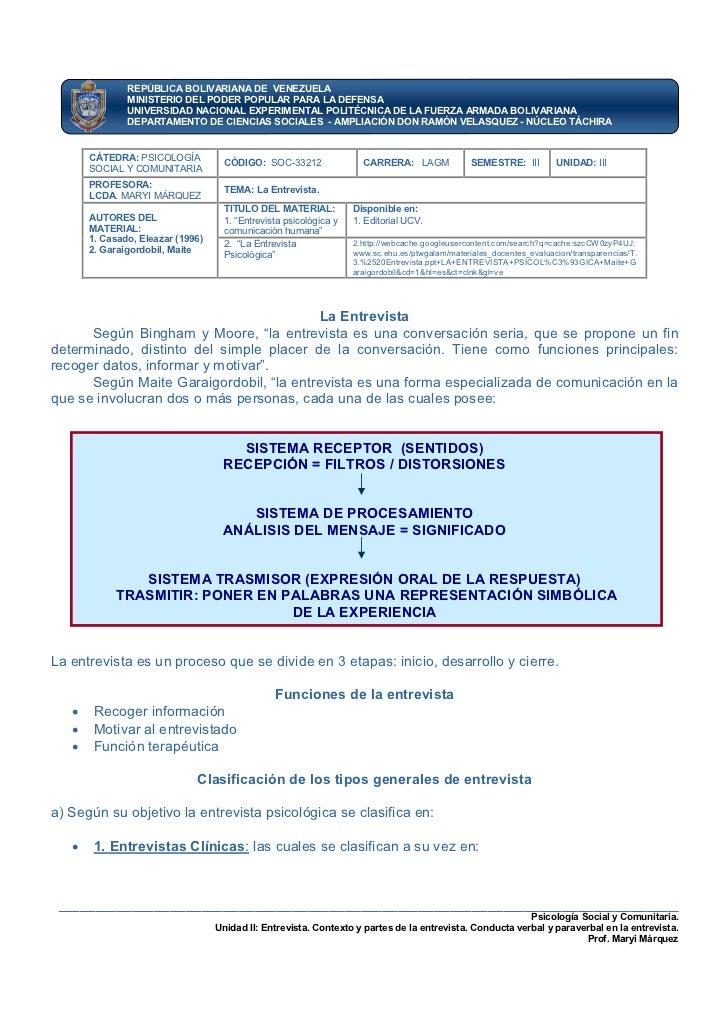 REPÚBLICA BOLIVARIANA DE VENEZUELA               MINISTERIO DEL PODER POPULAR PARA LA DEFENSA               UNIVERSIDAD NA...