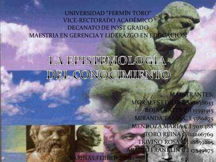 """UNIVERSIDAD """"FERMÍN TORO""""          VICE-RECTORADO ACADÉMICO           DECANATO DE POST GRADOMAESTRIA EN GERENCIA Y LIDERAZ..."""