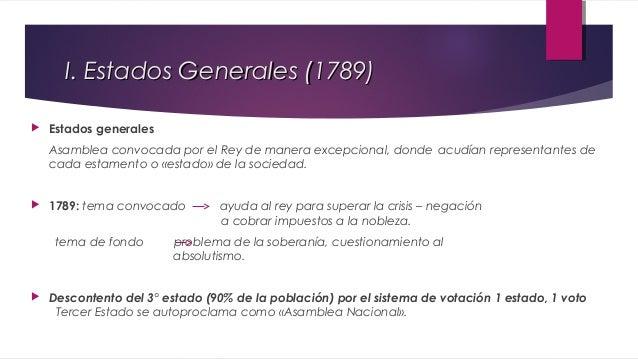 II. Asamblea Nacional (1789 – 1791)   Acciones:  1.  .Anulación de normas no aprobadas por el pueblo.  2.  «Juramento del...