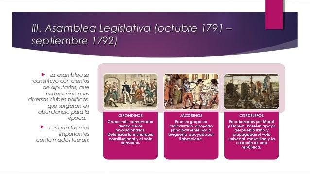 IV. Convención Nacional   Asamblea llamó a elecciones para crear un nuevo organismo legislativo «la Convención».    Nuev...