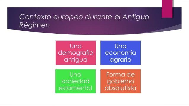 Contexto europeo durante el Antiguo Régimen