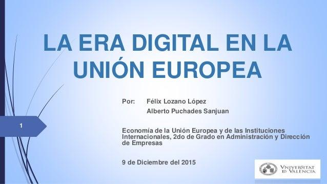 La era digital en la unión europea