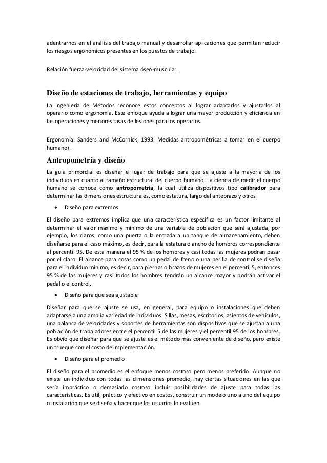 La ergonom a pdf for Medidas antropometricas pdf