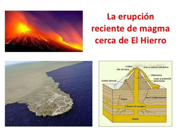 La erupciónreciente de magma cerca de El Hierro