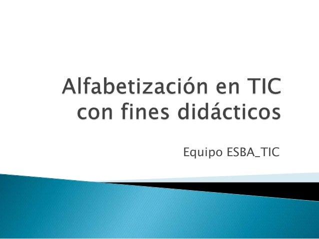 Equipo ESBA_TIC