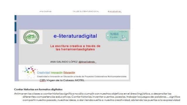 La escritura creativa a través de herramientas digitales