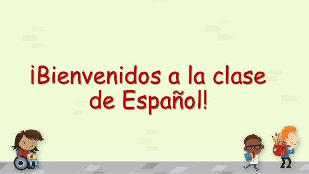en la clase de español