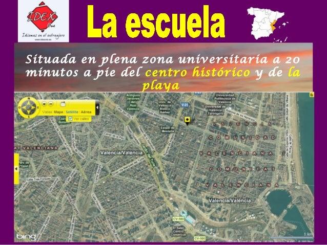 Situada en plena zona universitaria a 20 minutos a pie del centro histórico y de la playa .