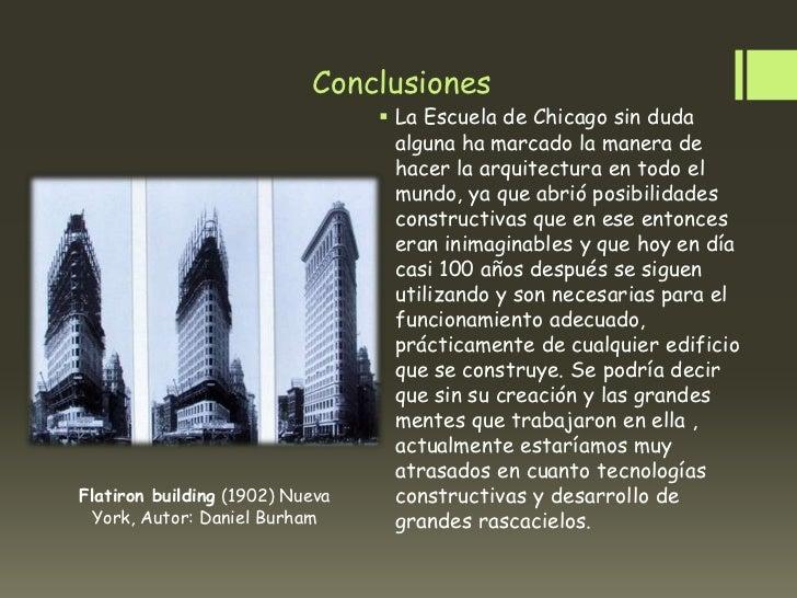 Conclusiones                                  La Escuela de Chicago sin duda                                   alguna ha ...