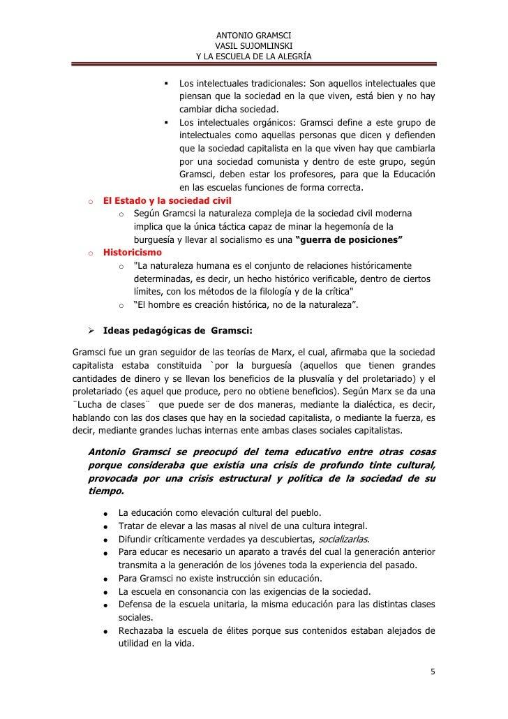 ANTONIO GRAMSCI                                  VASIL SUJOMLINSKI                             Y LA ESCUELA DE LA ALEGRÍA ...