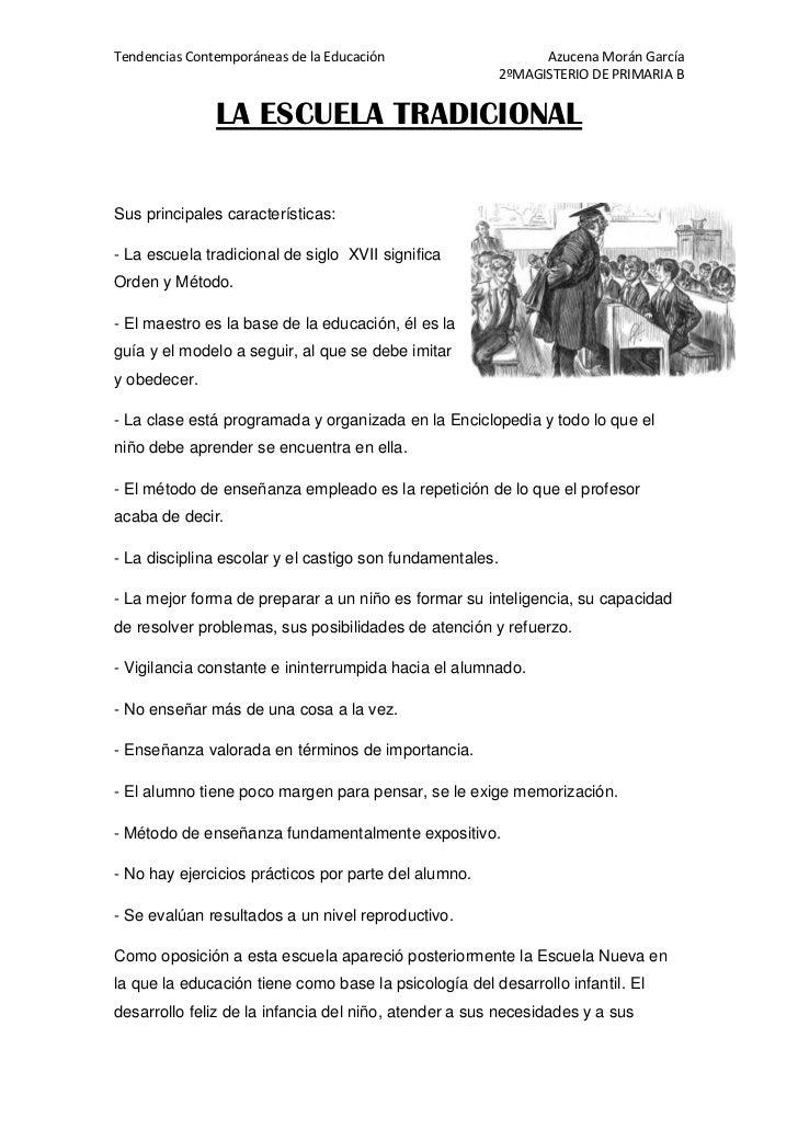 Tendencias Contemporáneas de la Educación                       Azucena Morán García                                      ...