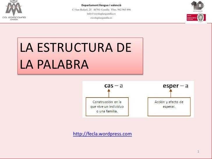 Departament llengua i valencià       C/ San Rafael, 25 46701-Gandia Tfno. 962 965 096                   info@escolapiasgan...
