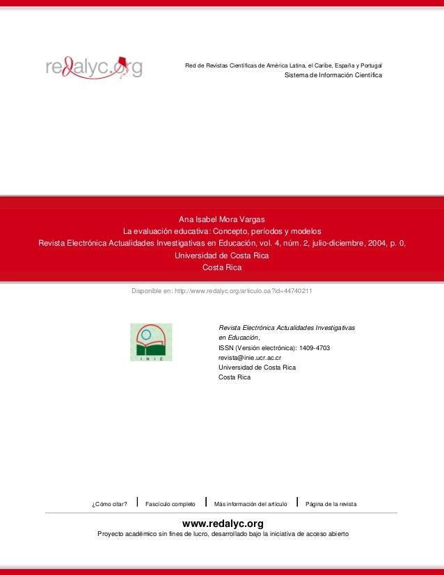 Disponible en: http://www.redalyc.org/articulo.oa?id=44740211 Red de Revistas Científicas de América Latina, el Caribe, Es...