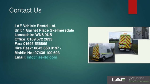 273eee39d7 Welfare Vans with Large Tool Storage  7. Contact Us LAE Vehicle Rental ...