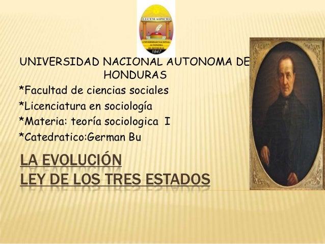 UNIVERSIDAD NACIONAL AUTONOMA DE                 HONDURAS*Facultad de ciencias sociales*Licenciatura en sociología*Materia...