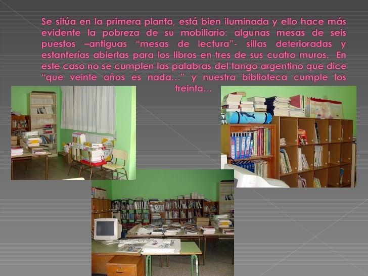 LA BIBLIOTECA Slide 2