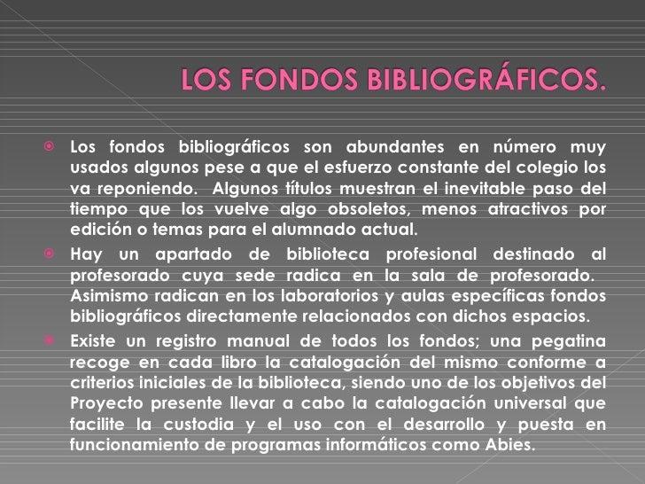 LA BIBLIOTECA Slide 3