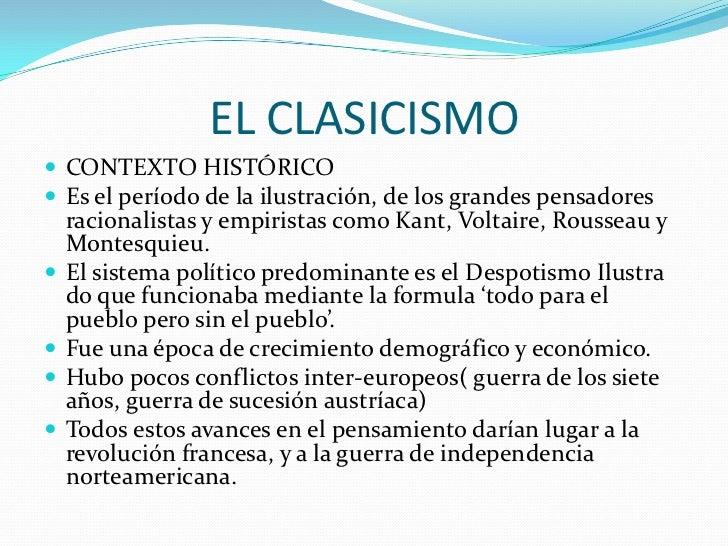 La evoluci n hist rica del m sico - Epoca del clasicismo ...