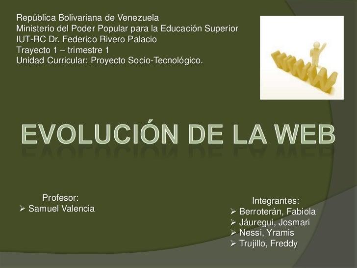 República Bolivariana de Venezuela<br />Ministerio del Poder Popular para la Educación Superior<br />IUT-RC Dr. Federico R...