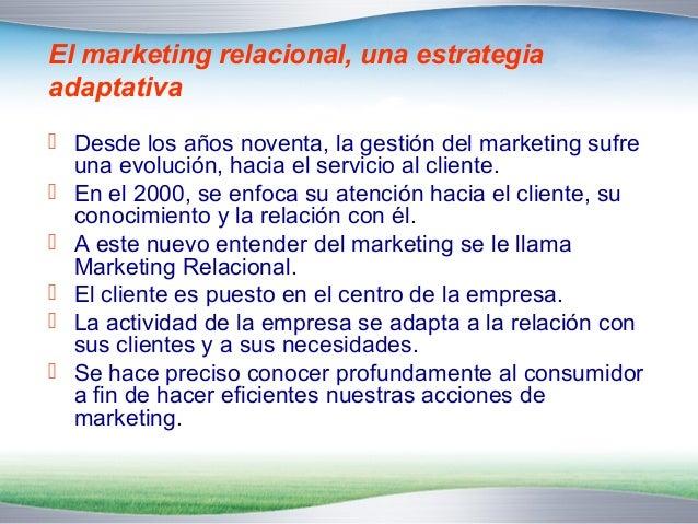 El marketing relacional, estrategia para recuperar  rentabilidad y asegurarla a largo plazo   De la gestión del Marketing...