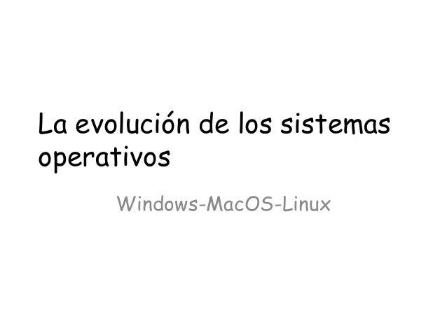 La evolución de los sistemas operativos Windows-MacOS-Linux