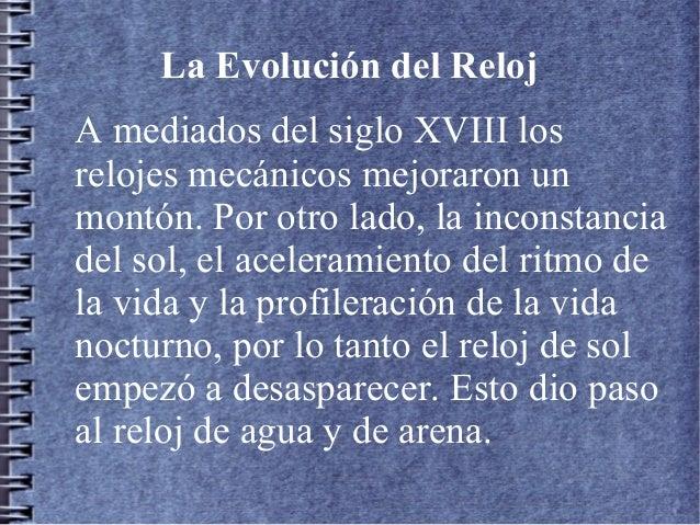 La Evolucion Del Reloj