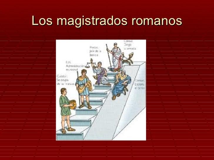 Los magistrados romanos