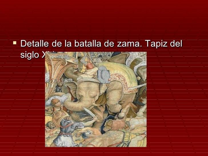  Detalle de la batalla de zama. Tapiz del siglo XV