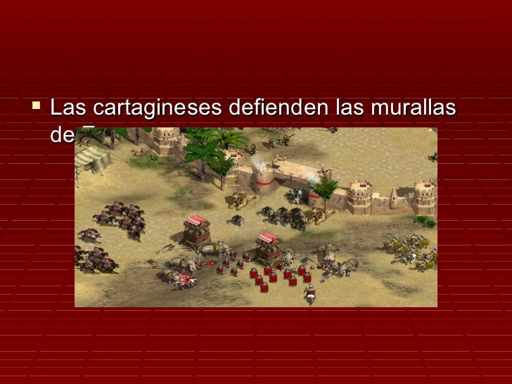  Las cartagineses defienden las murallas de Zama