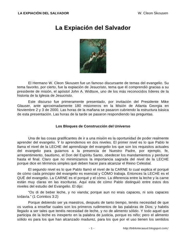 LA EXPIACIÓN DEL SALVADOR                                                   W. Cleon Skousen                           La ...