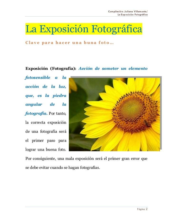 La exposici n fotogr fica for Pasos para realizar una exposicion