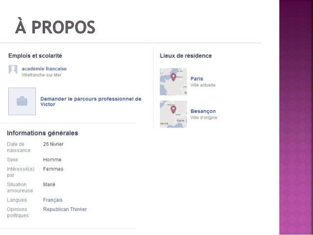 La facebook page de victor hugo Slide 2