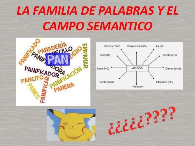 LA FAMILIA DE PALABRAS Y EL CAMPO SEMANTICO