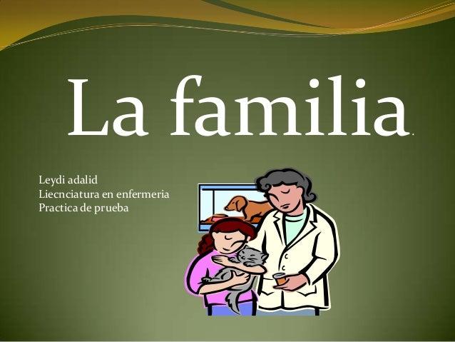 La familia.Leydi adalidLiecnciatura en enfermeriaPractica de prueba