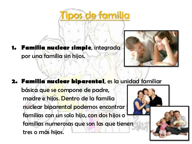 La familia power Tipos de familia nuclear