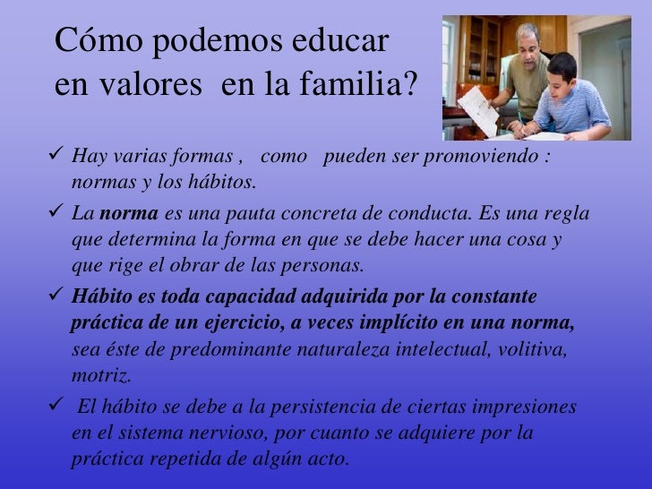 La familia y valores