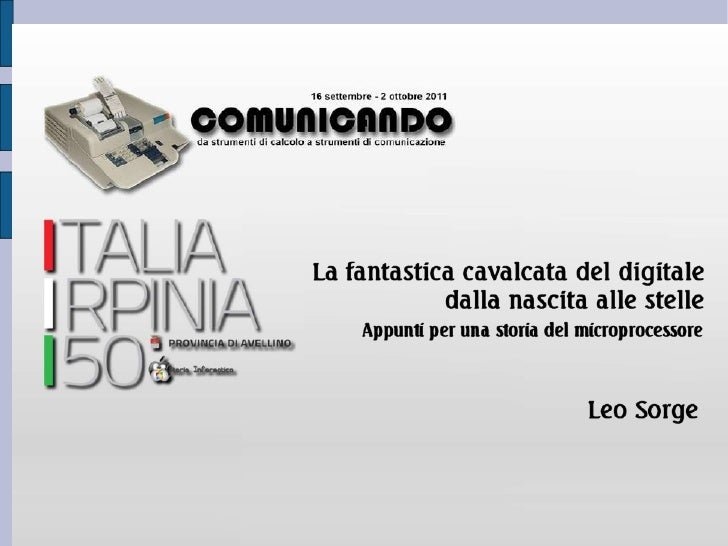 Leo Sorge – ultimi incontri                                      Stampa di oggetti in 3D:                     Primo Rep D...