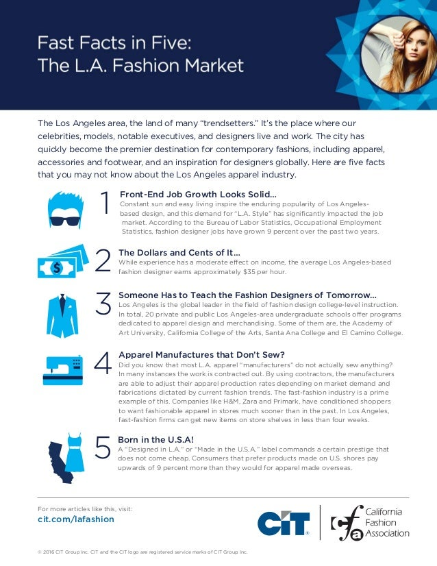 Fast Facts In Five The Los Angeles Fashion Market