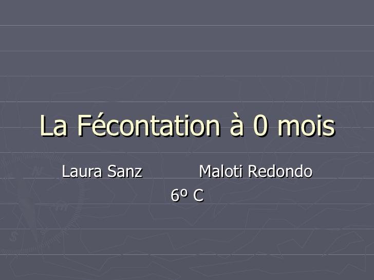 La Fécontation à 0 mois Laura Sanz  Maloti Redondo 6º C