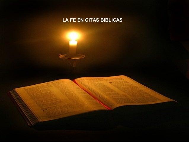 LA FE EN CITAS BIBLICAS