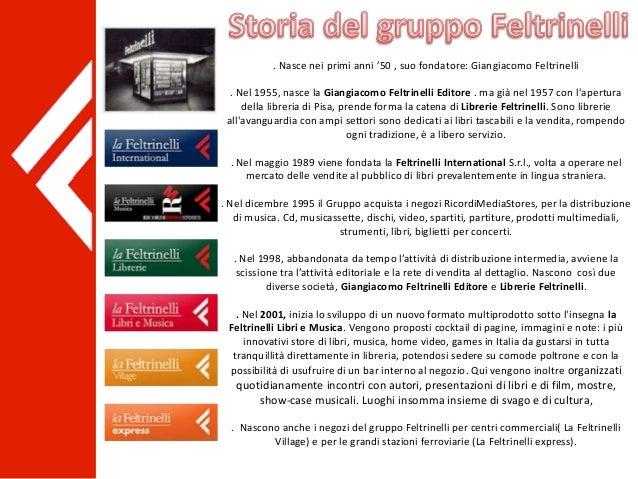 . Nasce nei primi anni '50 , suo fondatore: Giangiacomo Feltrinelli . Nel 1955, nasce la Giangiacomo Feltrinelli Editore ....
