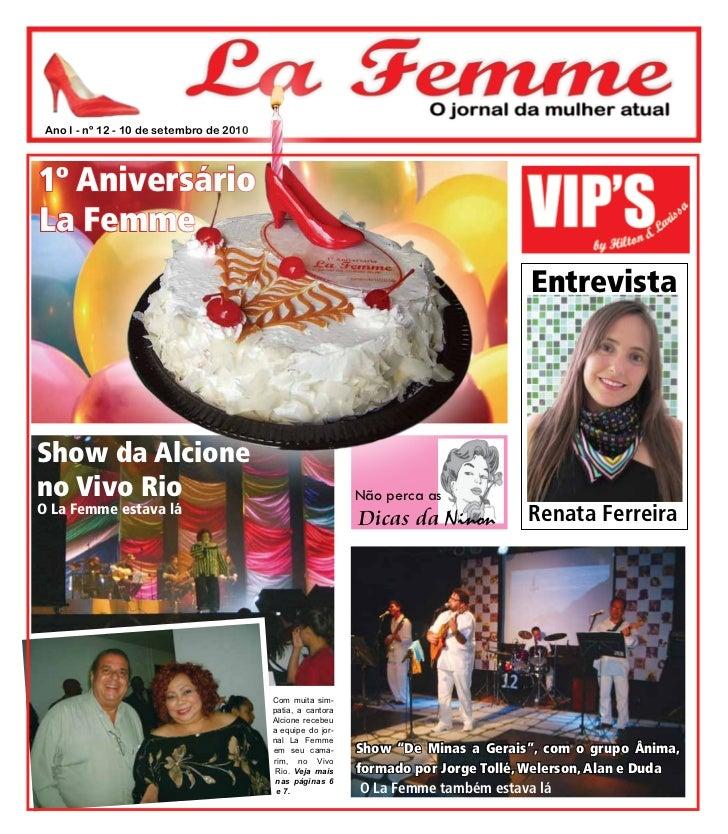 Ano I - nº 12 - 10 de setembro de 20101º AniversárioLa Femme                                                              ...