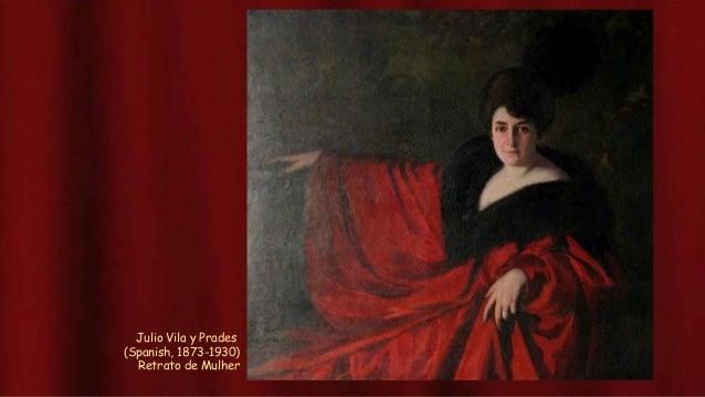 Mujer con vestido rojo maria blanchard